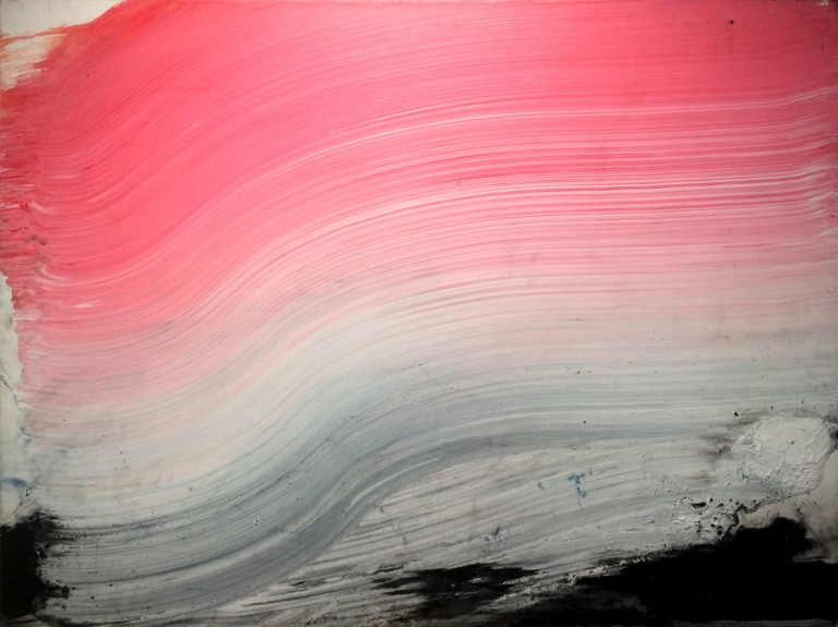 pink and black, 2002 (36x48in)