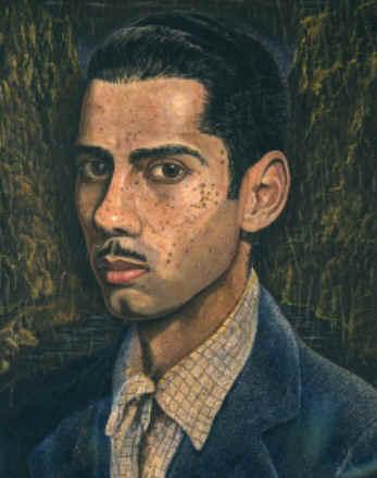 self-portrait, 1949-1951 (14.5x11.5in)