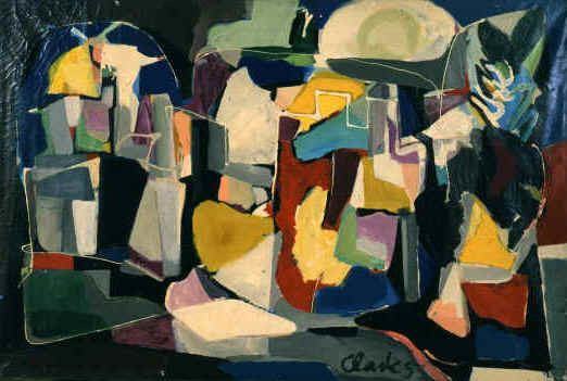 the city, 1952 (51x78.5in)